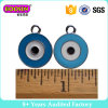 Blue Enamel Turkey Evil Eye Round Pendant Charms