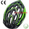 Carbon-Fiber Printing Bike Helmet, Green Bicycle Helmet, Multi-Hole Bike Helmet