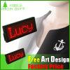 Promotion Neon LED Flashing Red LED Name Tag Badge