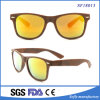 Fashionable Mirror Flat Lens Browm Frame Sunglasses for Unisex