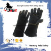 Black Genuine Cowhide Leather Industrial Hand Safety Welding Work Glove