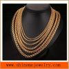 Fashion Titanium Steel Flower Basket Chain Match Pendant Chain Necklace (SSNL2620)