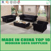 European Style Wooden Frame Office Fabric Sofa