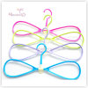 Lovely Bowknot Plastic Multifunctional Clothes Hanger (42.5*19.5 cm)