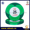 9.5g 2color Pure Clay Juego Engraved Sticker Chip (SY-C15-1)