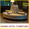 Round Leather Sectional Sofa Set /8 Seater Loung Seating for Hotel Lobby