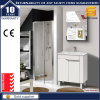 24′′ White Lacquer Wooden Cabinet Bathroom Vanity Unit with Legs