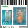 Zinc Plated Wire Mesh Rolling Container Trolley