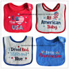 Customized Design Cotton Applique Embroidered Terry Baby Feeder Bib