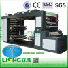 Lishg 4 Colour Stack Plastic Film Flexo Printing Machine