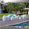 Well Furnir T-012 Elegant Outdoor Coastal Ivory Color Rattan Sofa