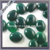 Oval Shape Emerald Color Agate Semi-Precious Gemstone