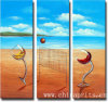 2013 Handmade Glass Cups Abstract Oil Painting