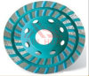 Double Row Turbo Diamond Grinding Cup Wheel,Dimond Cup Wheel for Grinding Stone and Concrete