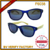 Custom Mirrored Bamboo Temple Sun Glasses (F6038)