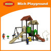 Outdoor Playground Playhouse with Slide (2277A)