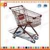 High Quality Euro Style Handing Supermarket Shopping Trolley (ZHt270)