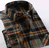 Men′s Fashion Plaid Checked Flannel Shirt