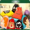 Daily Use 210d Polyester School Mixed Color Backpack