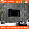 High Grade Background PVC Deep Embossed Wall Paper with Flowers