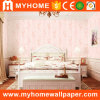 Pink Color Bedroom Non-Woven Wallcovering with Factory Price