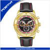 Golden Sporty Watch Customized Stainelss Steel Chronograph Men′s Swiss Quaity Watch