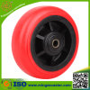 Red PU on Polypropylene Core Caster Wheel