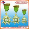 Custom Gold Metal Medal Military Award Medal with Cord (lzy2014C-0007)