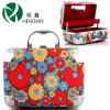 Aluminium Cosmetic Case with Flowers