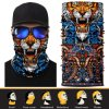 Fashion Design Reflective Sublimated Polyester Head Scarf for Men Wholesale