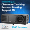 5000 Lumen Projector 1024X768 with Replacable Bulbs Ultrahigh Pressure Mercury Lamp Support Full HD 1080P VGA