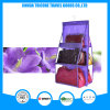 Transparent PVC and Non-Woven Violet Hanging Pocket Organizer Storage Bag