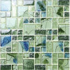 Natural Clean Green Pictures Pattern Mosaic Tile for Design (DS001D)
