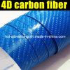 Blue 4D Adhesive Vinyl Film Carbon Fiber with Air Free Bubble