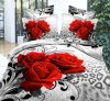 Hot 3D Flower Printing Cotton Bedding Set