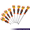 TPR Handle Carbon Steel Slotted Screwdriver (T02051)