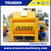 Js2000 Twin Shaft Compulsory Electric Large Capacity Concrete Mixer