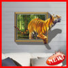 Ay8001 3D Reality Tiger Waterproof PVC Decoration Wall Sticker