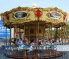 Electric Fiberglass Carousel Horse Outdoor Playground Ride