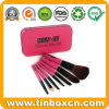 Rectangular Cosmetic Metal Tin for Makeup Brush Kit
