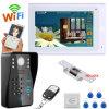 "7"" TFT Wired / Wireless WiFi RFID Password Video Door Phone Intercom System with Electric Strike Lock"