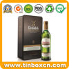 Metal Wine Bottle Packaging Box Rectangular Whisky Storage Tin