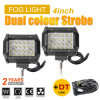 "Wholesale Dual Color Strobe 3000K 6500K 4"" Amber LED Light Bar Truck"