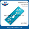 Light Blue Adhesive Metal Label