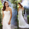 Free Shipping New Arrival 2014 Sheath Wedding Gowns Strapless Crystal Beaded&Pleated Chiffon Garden Wedding Dresses (WND17)