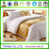 100% Cotton Bed Sheet Hotel Bright White Damask Stripe