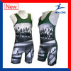 Healong Customized Sublimation Fashion Design Top Sales Wrestling Singlets