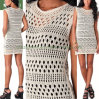 Hot Village Twisted Swing Vest Crochet Lady's Knit Apparel (SW-13006)