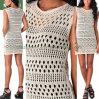 Hot Village Twisted Swing Vest Crochet Lady's Knit Apparel (SW-13006)