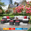 Circular Outdoor Sofa Garden Sofa Wicker Furniture Rattan Sofa Outdoor Furniture S244